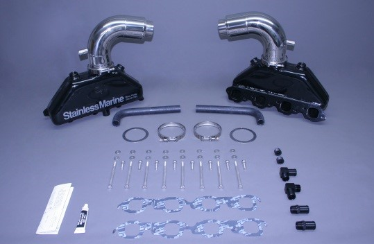 """Set Of Bb Manifolds With 3"""" Taller Stainless Risers"""