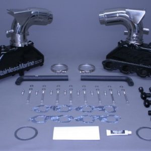 Set Of Bb Manifolds 8.1 / 496 Volvo With Stainless Risers