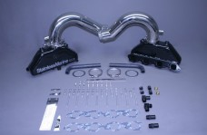 BB 8.1/496 Merc Exhaust Manifolds with Stainless Risers For HI Performance w/Special Brkts Built To Fit