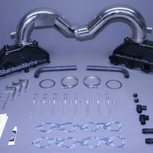 Set Of Bb Manifolds 525 Merc Efi/ ..600 Sc-700 Sc  W Stainless Risers & Special Brackets  Built To Fit