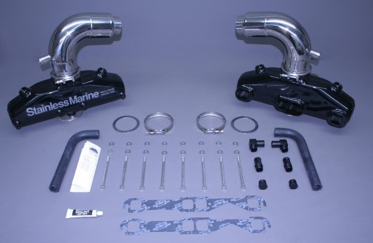 """Set Of Sb Manifolds With 3"""" Taller Stainless Risers"""