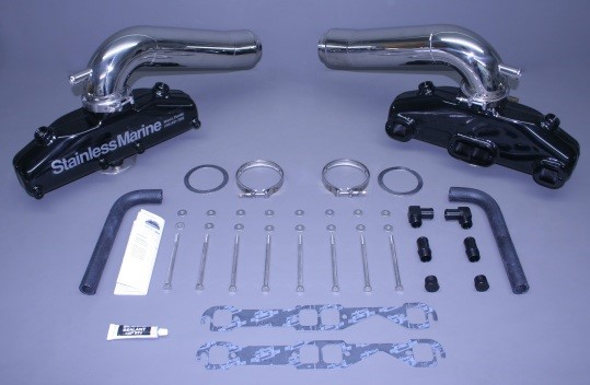 Set Of Sb Manifolds With Long Stainless Risers  Built To Fit