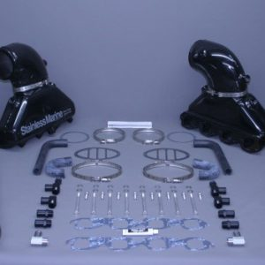 "Set Of Bb Gen Iii Manifold With Aluminum Riser And 5"" Stainless Tailpipes Built To Fit"