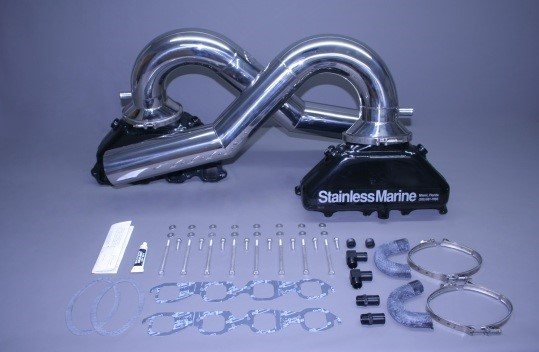 "Set Of Bb Gen Iii Manifold With 1 Piece Stainless 41/2"" Tailpipes Built To Fit"