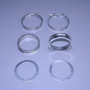 "Set Of Bb/Sb Stainless 1"" Manifold To Riser Spacers  (With Gaskets & Clamps)"