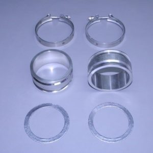 "Set Of Bb/Sb Stainless 2"" Manifold To Riser Spacers  (With Gaskets & Clamps)"