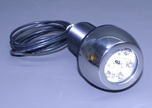 "Thru Hull S/S Housing 3"" Round Underwater Light W/ 6 Hi Powered Led Bulb- Short W 1 1/8 X 1 1/4 Plastic Transom Mount (Bracket Only) (Ea)"