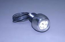 "Stainless Thru-Hull 3"" Round Underwater Light with 6 High Powered LED's"