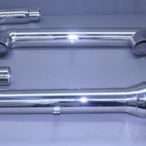 "3"" x 3"" x 5"" Polished Stainless Exhaust Crossover Collector"