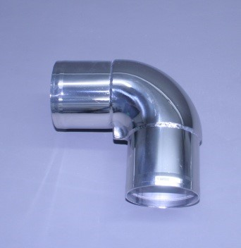 "3 1/2"" Polished Stainless Short Radius 90"
