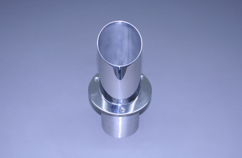 """4"""" Exhaust Tip Straight Flange / Angled End 30"""