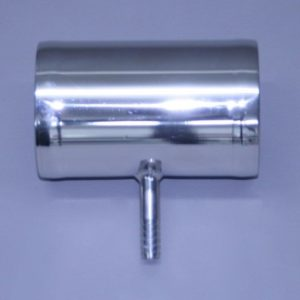 "Fresh Water Stainless Flush Tee ..2.5"" X 2.5"" X 3/8"" Fuel Return For EFI Engines Flare Ends"