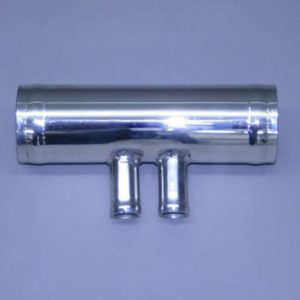 "Fresh Water Stainless Flush Tee 1"" X 4"" With 2 - 3/8"" Outlet"