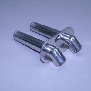 "1"" O.D. Stainless Dual Water Discharge Fitting 45 Turn down"