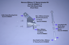 "Merc. Offshore 15"" Shorty Actuator Kit"