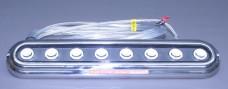 "Surface Mount Blue Stainless Steel 2-7/16"" x 11-7/8"" Bar Type Underwater Light"