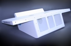 "32"" Twin Engine Bracket with 82"" Wide Platform White -13 Degree"