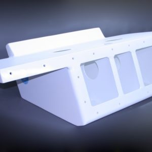 "32"" Twin Engine Bracket with 82"" Wide Platform Black -11 Degree"