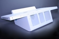 "36"" Twin Engine Bracket with 82"" Wide Platform White - 11 Degree"