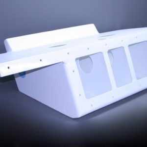 "36"" Twin Engine Bracket with 82"" Wide Platform Black - 13 Degree"