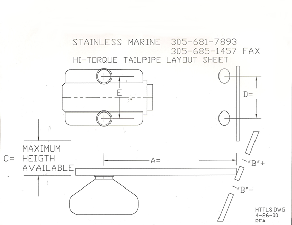 BB & SB Tailpipe Layout Diagram