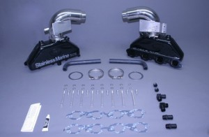 """Set Of Bb Manifolds With 3"""" Taller Stainless Risers With Brackets"""