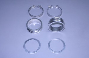 "Set Of Bb/Sb Stainless 1 1/2"" Manifold To Riser Spacers  (With Gaskets & Clamps)"
