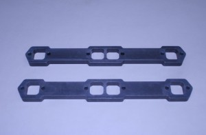 """Set Of Sb 3/4"""" Aluminum Exhaust Manifold To Head Spacers"""