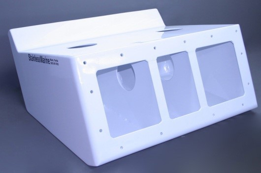 "30"" Twin Brackets White - 15"