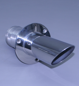 "3"" Exhaust Tip Straight Flange / Angled End 45"