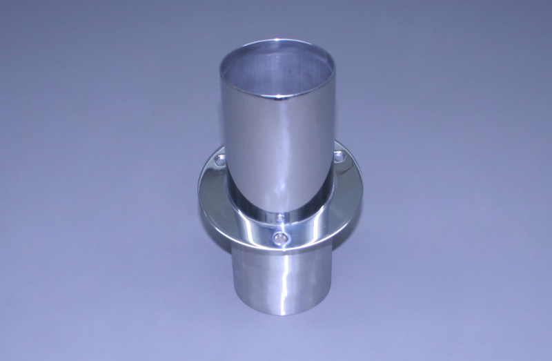 "4"" Exhaust Tip Angled Flange 12"
