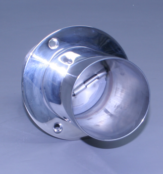 "4"" Exhaust Tip Straight Flange / Straight End With Stainless Internal Super Flap (Ea)"