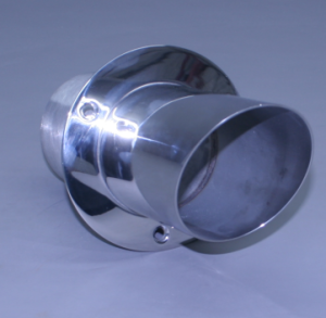 "6"" Exhaust Tip straight flange / angled end – 30 degree"