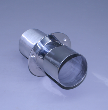 """6"""" Exhaust Tip Straight Flange / Straight End (Ea)"""
