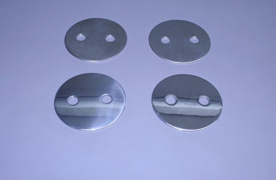 Set Of Transom Lift Ring Plates Only (2 Polished/ 2 Back-Up)