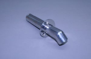 "1 1/4"" O.D. Stainless Single Water Discharge Fitting 45° Turn Down"