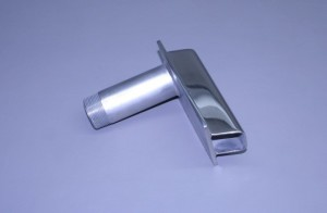 "1 1/2"" N.P.T. Male X  1 7/8"" Od Stainless Transom Mount Water Pick Up (Ea)"