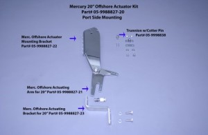 "Merc 20"" Offshore Actuator Mounting Bracket (Port Side)"
