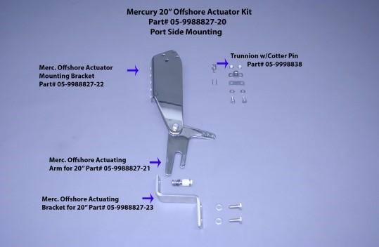 "Merc 20"" Offshore Actuator Mounting Bracket (Port Side)"