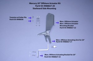 """Merc 20"""" Offshore Actuating Arm (Stbd Side)"""