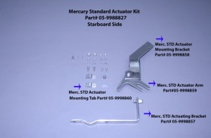 Actuator Mounting Bracket..(Used On Merc Std, Yamaha, Omc, Suzuki,& Honda) Stbd Mount