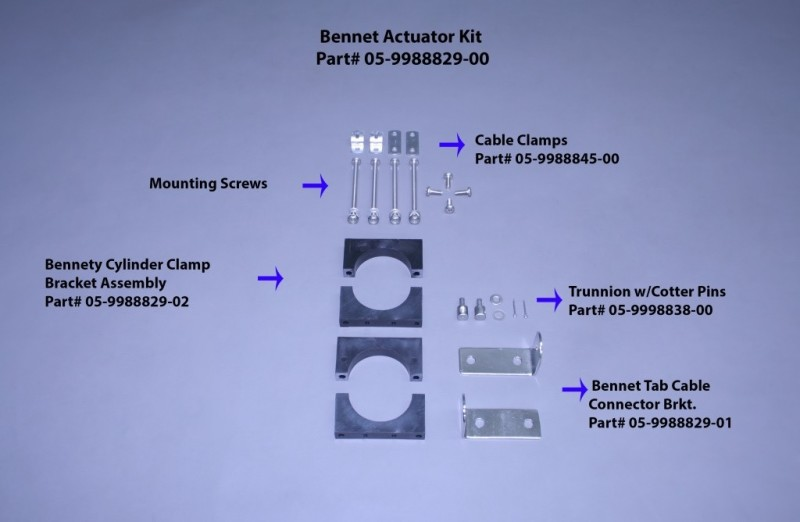 Bennett Trim Tab Actuator Kit