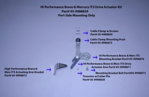 Hi Performance Bravo & Merc Its Drive Actuator Kit